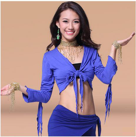 New Arrival Cotton Belly Dance Top Momen Long Sleeves Belly Dance Body Tops Sexy Top 9colors