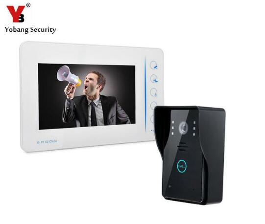 YobangSecurity 1-Camera 1-Monitor 7 Video DoorPhone Video Intercom Home Doorbell System IR Night Vision Hands Free intercom yobangsecurity 1 camera 1 monitors 10 video intercom visual doorbell kits door phone system ir night vision hands free intercom