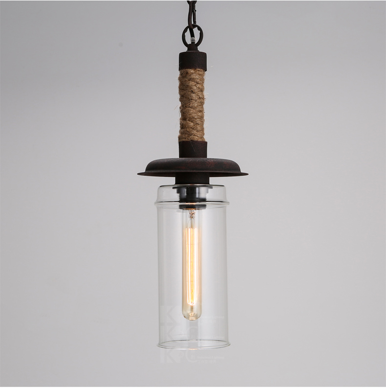 Nordic Pastoral Style Loft Lamp Contracted Vintage Hemp Rope Glass Pendant Light Cafe Hanging Lamp Art Deco Lighting nordic style loft hanging lamp creative restaurant pendant light contracted metal pendant lights bar art deco lighting