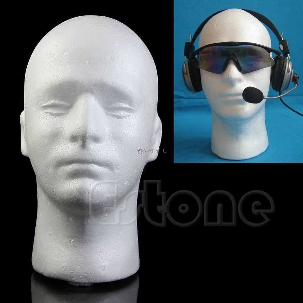 Male Styrofoam Mannequin Manikin Foam Head Model Glasses Hat Wig Display Stand New  Drop shipping mannequin