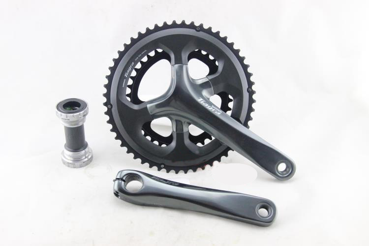 Shimano Tiagra 4700 10-Speed 50-34T 52-36T 165mm 170mm Crankset with BB-RS500 Bottom Bracket ш мано tiagra ti130a