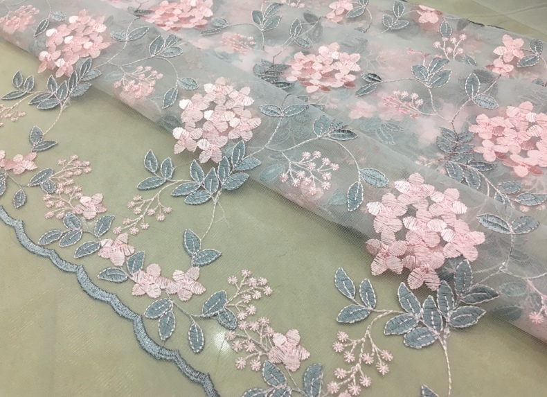 0 5M French Net Lace Fabric 2018 Latest African Lace Fabric With Embroidery Mesh Tulle Lace Fabric High quality Nigerian Lace in Fabric from Home Garden