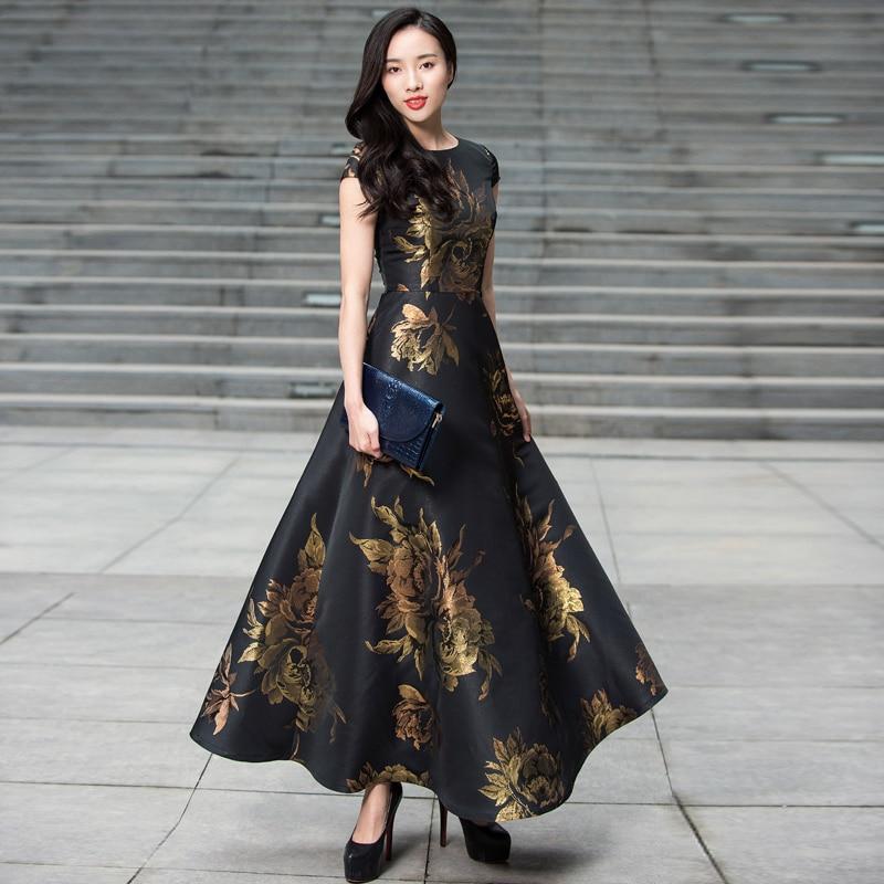Vestidos Plus Size Women summer Long Maxi Dress Boho Floral Jacquard Dress Fashion Party Dress