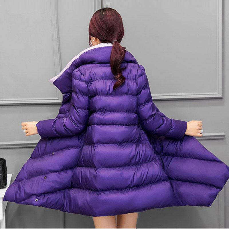 Vestes Hiver Bas purple Plume Veste Parka red Wine 2017 Longue Taille Black Vers Mode Ceinture Grande Épais L'ukraine Femmes green Femme Femelle Manteau Le Coton De RdqwR8C