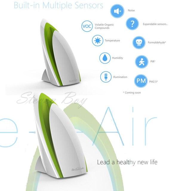 Broadlink A1, wi-fi Purificador de Ar inteligente, Teste de Detector De Ar E ar-Ar Quatily, smart Home Automation, controle remoto telefone inteligente