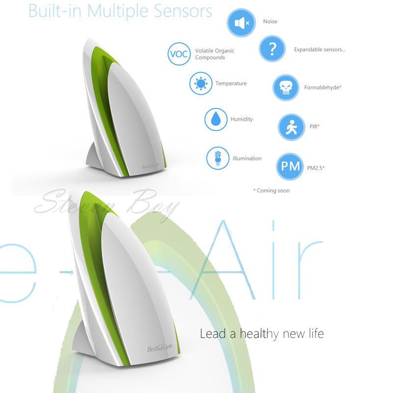 Prix pour Broadlink a1 wifi air purificateur intelligente e-air air quatily détecteur test maison automatisation sans fil rf télécommande by app