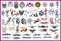 2014 Latest Reusable Adhesive Airbrush Tattoo Stencil Template 53 Designs Book 13 Free shipping
