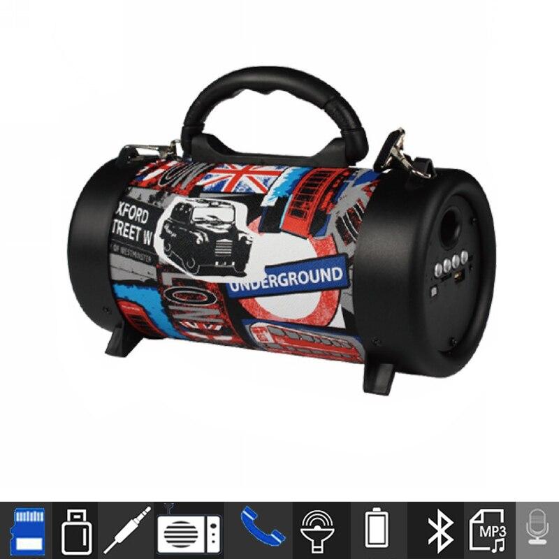 Portable Speaker Wireless Bluetooth Hifi Soundbar with Subwoofer Outdoor Loudspeaker With Microphone FM radio Boombox
