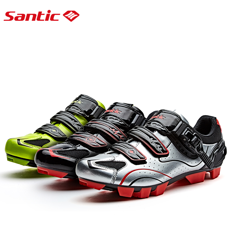 Santic Men Cycling MTB Shoes 3Colors Cycling MTB Athletic Racing Team Bicycle Shoes Breathable Cycling Clothing riding equipment