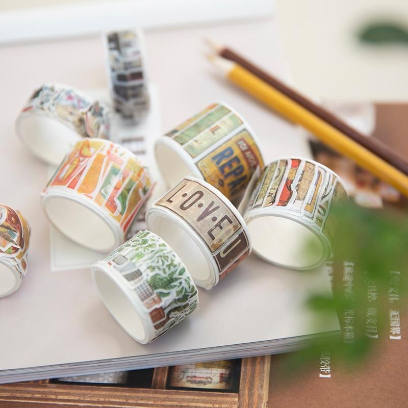 12PCS/LOT lovely sticker Collage paper decorative tape masking tape washi tape