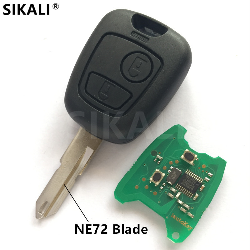 Remote Car Key DIY for 206 207 Vehicle Control Alarm with NE72 Blade for Peugeot