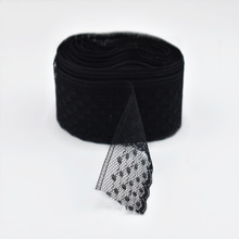 wholesale 10yards/Lot black lace fabric ribbon 30mm width white cotton trim Embroidery Sewing clothing accessories dentelle