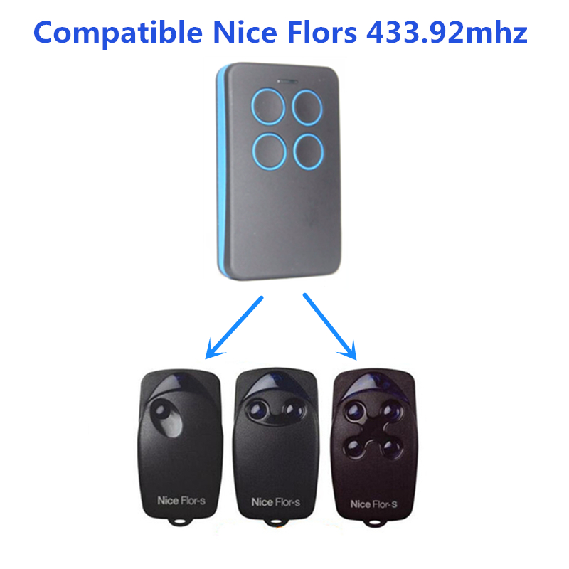 Garage Door/Gate Remote Control Replacement For Nice ON FLOR-S VERY-VR ERA ERGO