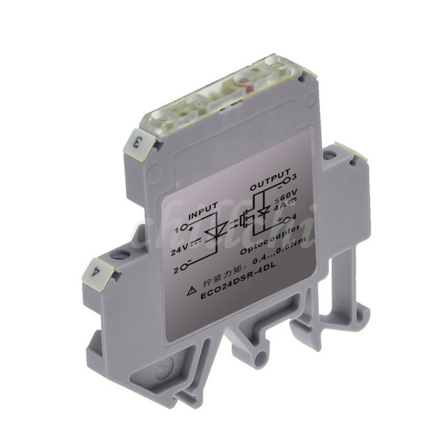 6mm ultra thin rail mounted solid state relay ssr module switching current 4a card and plc expansion