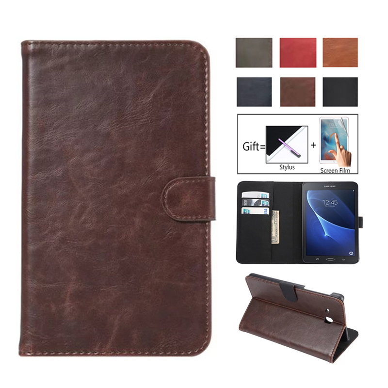 Роскошный модный Чехол-книжка из искусственной кожи с подставкой для Samsung Tab A A6 7,0, чехол для Samsung Galaxy Tab A 7,0, T280, T285, SM-T285-0