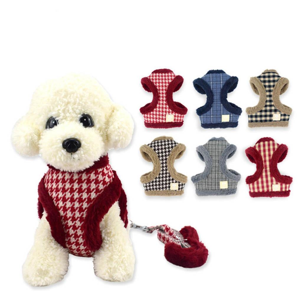 100% Waar Muti-kleur Hond Vest Halsbanden Pet Kat Hond Puppy Comfortabel En Zacht Corduroy Mesh Vest Leash Borst Bandjes Verstelbare Riem