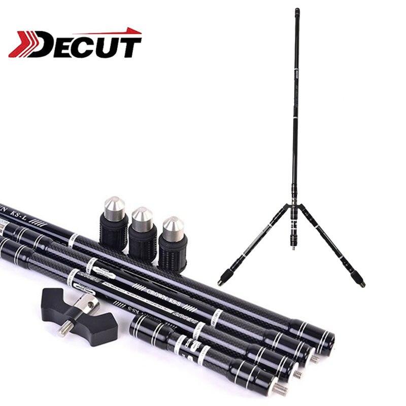 1 комплект DECUT стрельба из лука изогнутый стабилизатор наклона 30/10/4 дюйма баланс стержень стабилизатор уровня углерода изогнутый стрельба и