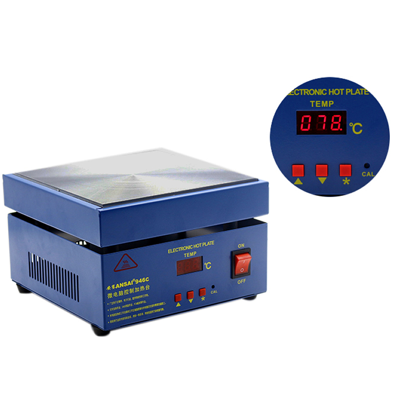 Electric soldering station 946C Digital Heating Platform Adjustable Hot Plate Heating Plate Preheating Station 200x200mm Числовое программное управление