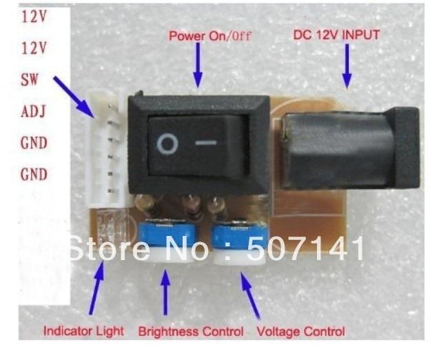 Free Shipping New Design Hign Quality CCFL Lamp & Inverter Tester 12V DC Input
