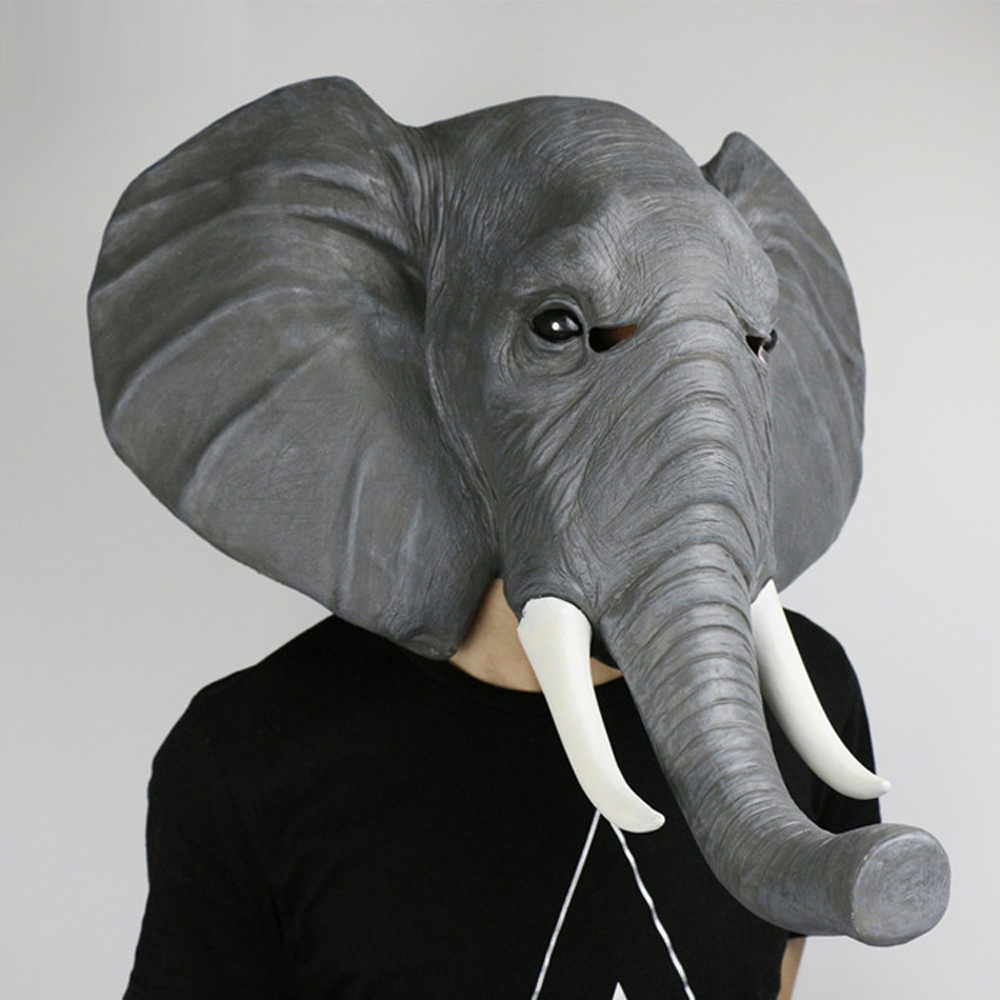Adult Halloween Elephant mask terrorist latex mask Evening party Perform masquerade mask Carnival Props
