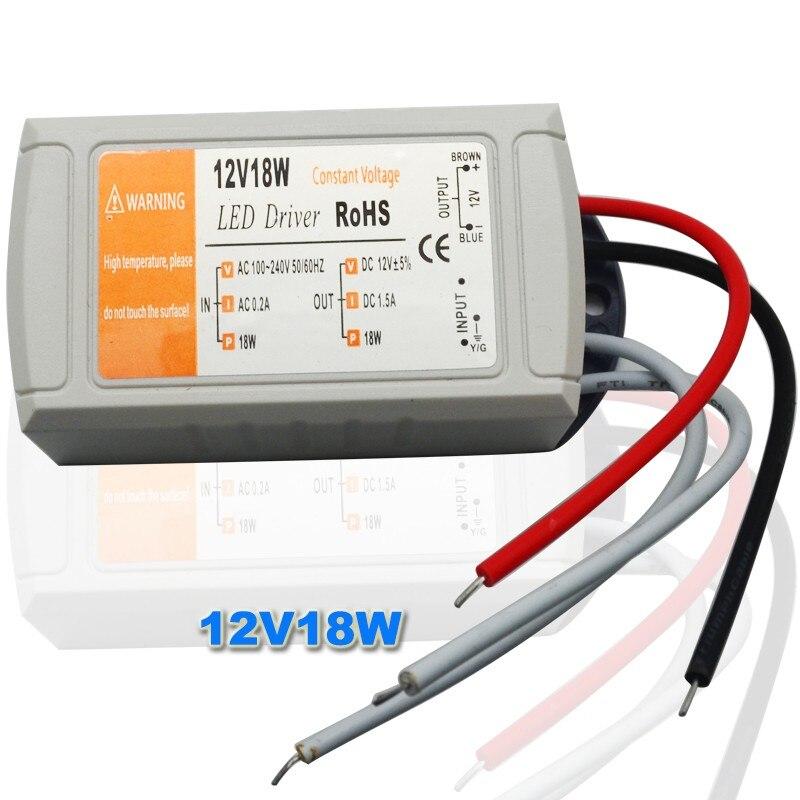 18W-360W DC12//24V Trafo Transformator Netzteil Treiber Driver LED Streifen Strip
