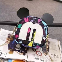 Fashion Brand Design Women Mickey Shaped Bag Cute Funny Women Evening Bag Clutch Purse Chain Backpack Bag for Birthday Gift