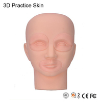 Permanent Tattoo Makeup 3D Practice Skin Mannequin Head With Inserts Cosmetic Eyes And Lips
