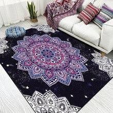Alfombra de felpa de imitación nórdica para sala de estar, alfombra antideslizante para cabecera, para puerta estera dormitorio, color blanco, negro, mármol, geométrico, azul marino
