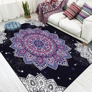 Image 1 - Nordic imitation white black marble geometry Navy blue door mat bedroom plush rug living room non slip bedside carpet customize
