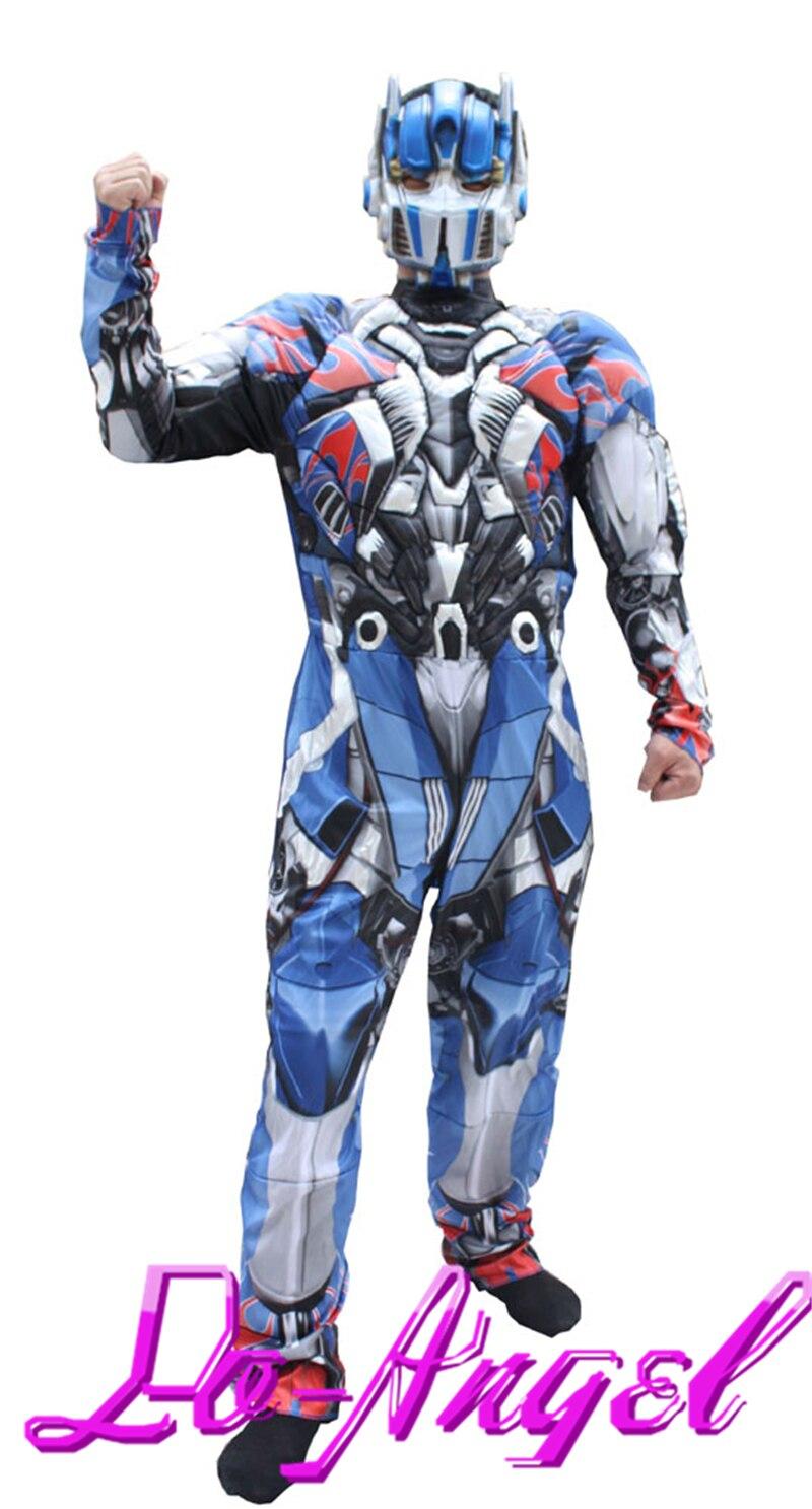 Vente chaude adulte Optimus Prime super-héros Muscle Cosplay Halloween Costume de fête costumes fantaisie robe