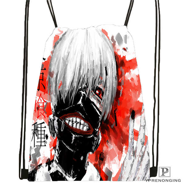 Custom Kaneki_by_sephnir  Drawstring Backpack Bag Cute Daypack Kids Satchel (Black Back) 31x40cm#20180611-02-89