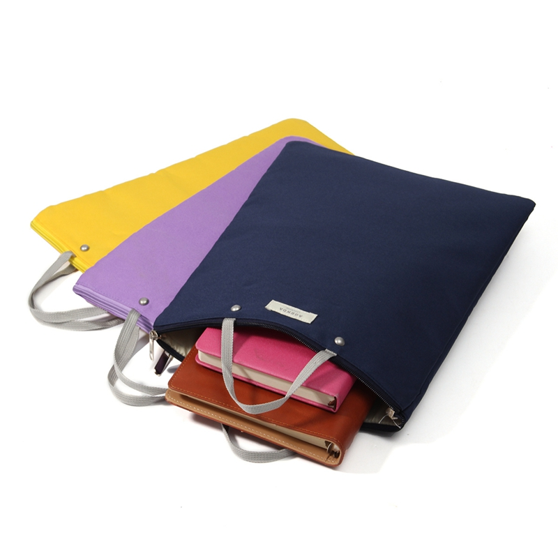 Mrosaa Document Holder Folder Storage Fabric Pouch Package For A4 Paper Portable Bill Pouch File Folder Office & School Supplies