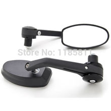 "Black Bar End Mirrors 7/8"" 22mm For Ducati Monster 620 696 750 796 900 1000 1100 S2R"