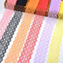 10yards lace ribbon 45mm wide white trim embroidered  sewing african cotton fabric DIY Jewelry wedding decoration