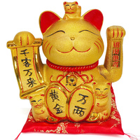 Hot Selling Newest Golden Prize Cat Piggy Bank Shop Opens, Gives People Creative Decorations Ceramic Lucky Cat