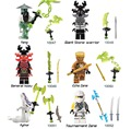 Decool 10047-10052  Compatible  Ninjagoed General Kozu Yang Pythor Ninja Building Blocks set Ladrillo Juguete