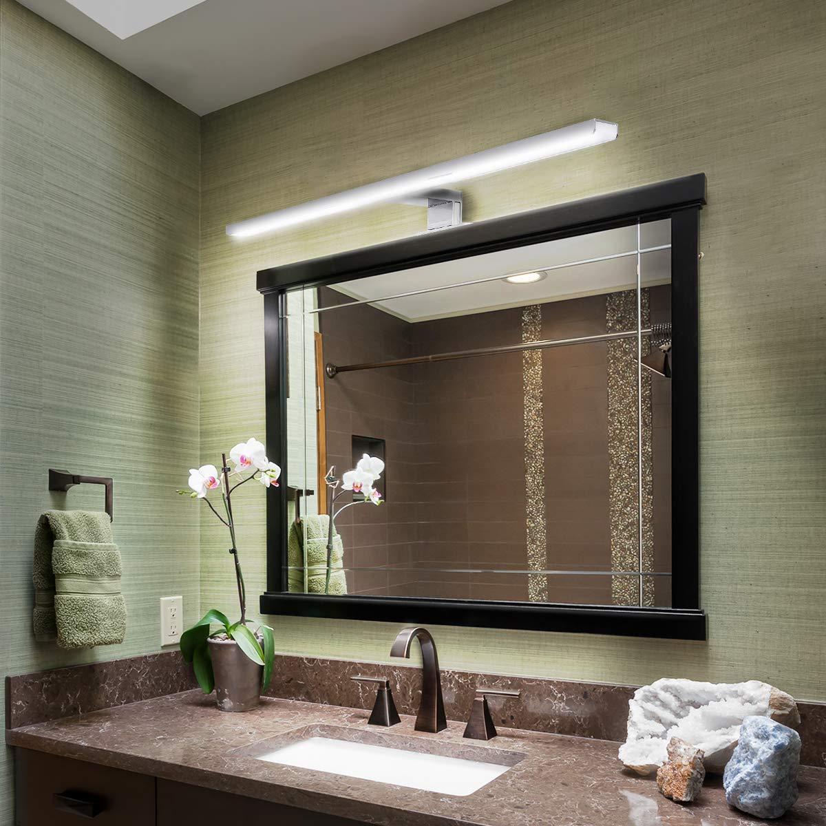 prova d800água interior led espelho lâmpada parede