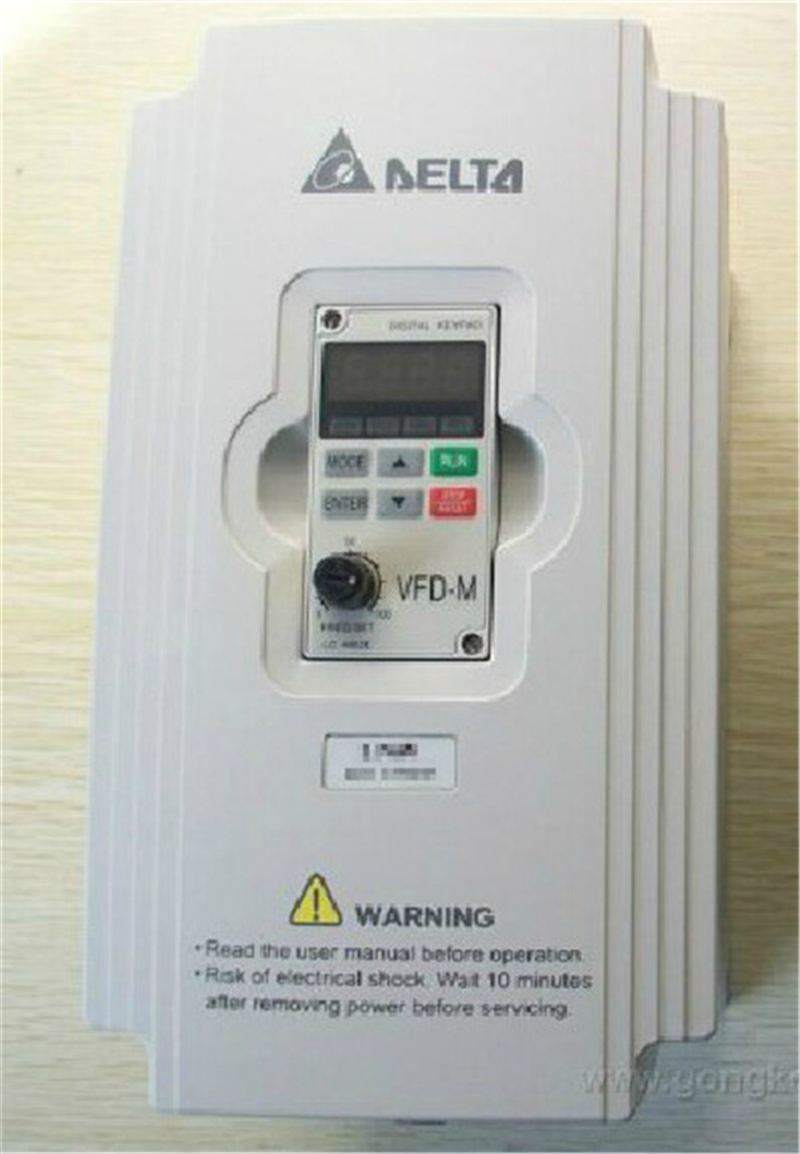 Delta AC Motor Drive Inverter VFD007M21A-ZA VFD-M Series 1HP 1 phase 220V 750W New vfd007e11a delta vfd e inverter ac motor drive 1 phase 110v 750w 1hp 4 2a 600hz new in box