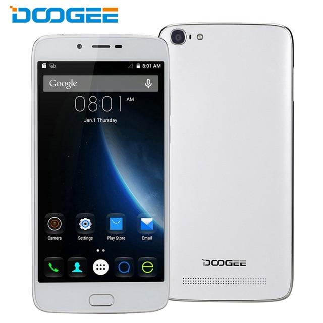 Оригинал Doogee Y200 Мобильного Телефона 2 ГБ RAM 32 ГБ ROM 5.5 Дюймов 64-бит MTK6735 Quad Core Android 5.1 TOUCH ID 8.0MP Камера OTG GPS