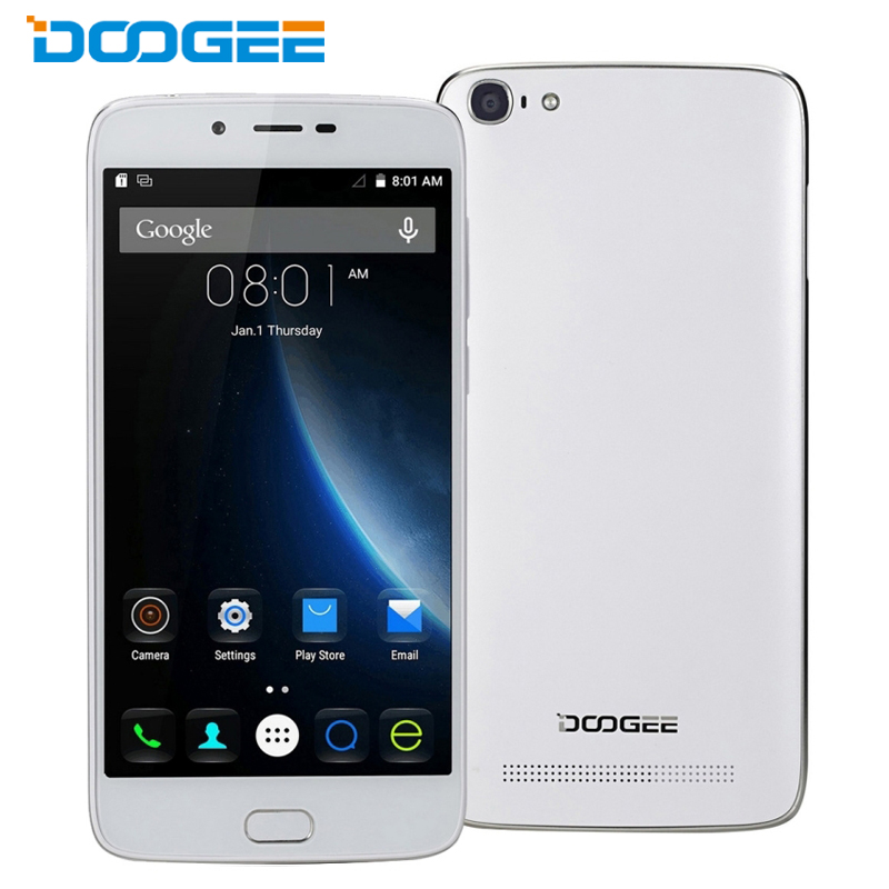 Original Doogee Y200 Mobile Phone 2GB RAM 32GB ROM 5.5 Inch 64-Bit MTK6735 Quad Core Android 5.1 TOUCH ID 8.0MP Camera OTG GPS
