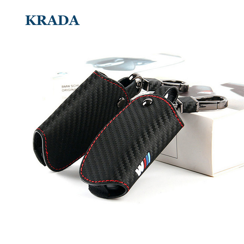 Car-Styling Carbon Fiber Key Cover Case for BMW M Emblem Key Case E90 E92 E93 F30 E90 e39 X1 X3 X5 X6 3 5 Series Key Bag Gifts