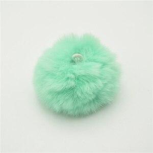 Image 3 - 25 stks 5 cm Zeer Zacht Rex Konijn Pluizige Haarbal Pompons voor Oorbel Ornamenten Pluche Bal Haarspeld Hoofdtooi