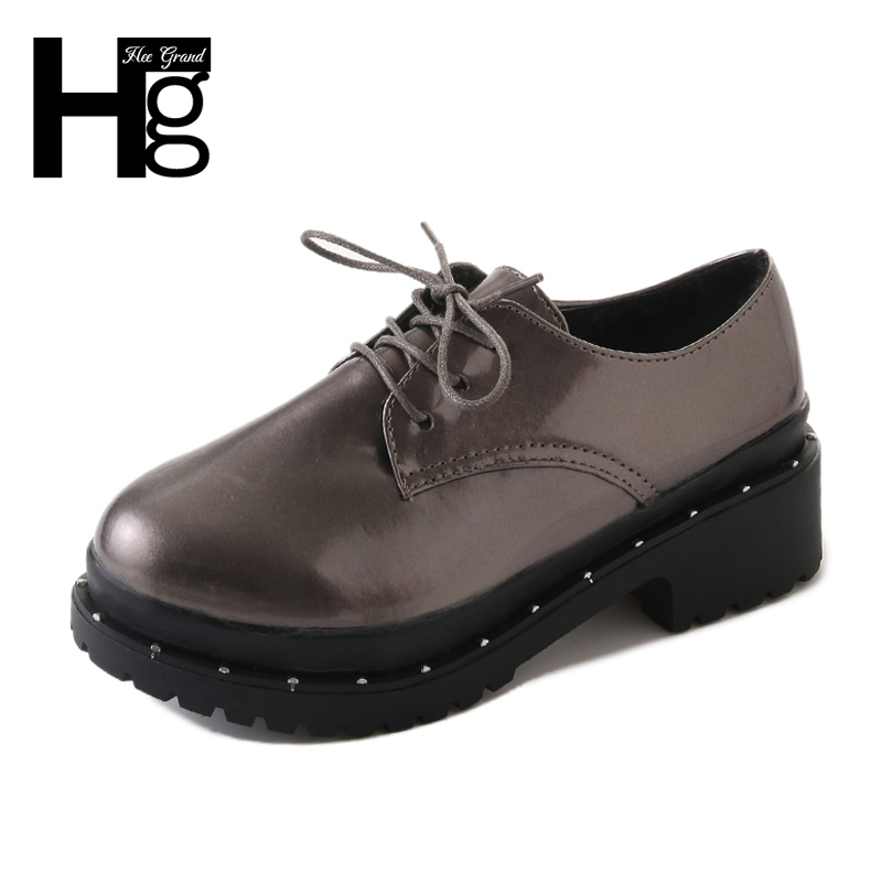HEE GRAND 2018 New British Style Woman Brogue Shoes Platform Creepers Casual Lace up Women Oxford Color Silver Size35-39 XWD6273 аксессуар защитная плёнка для samsung galaxy a3 2016 a310 monsterskin super impact proof 360