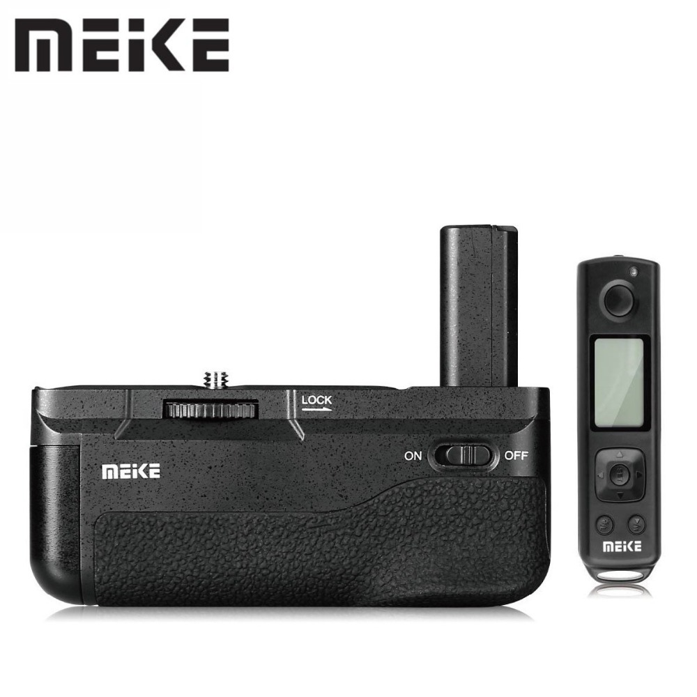 Meike MK-A6500 Pro Battery Handy Grip With 2.4GHZ Remote Controller Up to 100M Vertical-shooting Function For Sony A6500 CameraMeike MK-A6500 Pro Battery Handy Grip With 2.4GHZ Remote Controller Up to 100M Vertical-shooting Function For Sony A6500 Camera