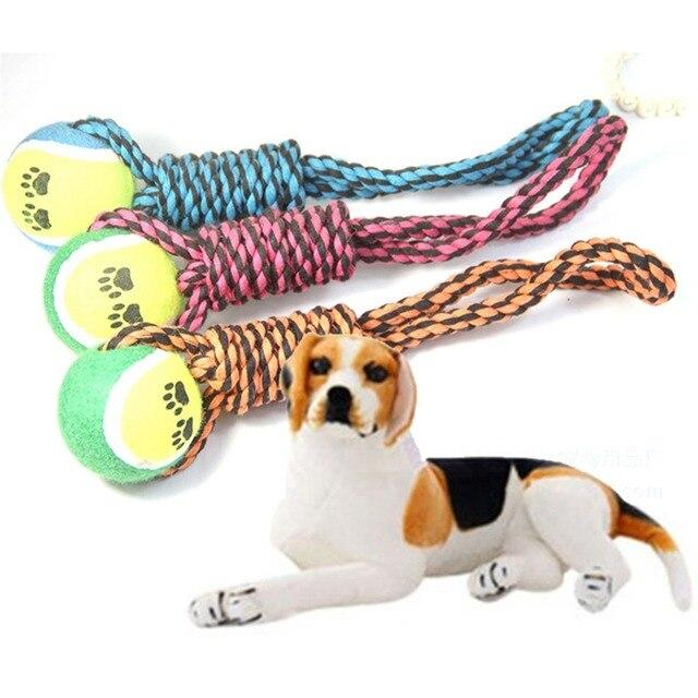 Hundespielzeug Hund Kaut Baumwolle Seil Knoten Ball Schleifen Zähne ...