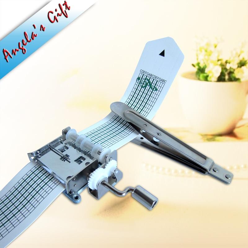DIY music box 15 notes Hand crank Paper Strip music box mechanism, unusual christmas/birthday gift