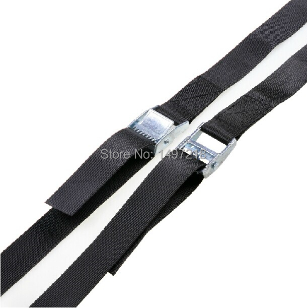 2015 New 2pcs 1 inch (2.5cm) *3meters Metal cargo lashing strap ratchet tie down cam buckle winch strap Free Shipping