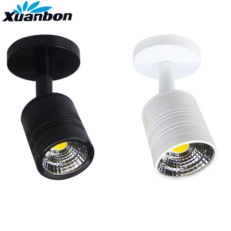 Dimmable 5W <font><b>LED</b></font> Surface Mounted <font><b>wall</b></font> lamps <font><b>Spot</b></font> Light <font><b>Led</b></font> Downlight Showcase Jewelry Counter Ceiling Lamp Clothes Store Lighting image