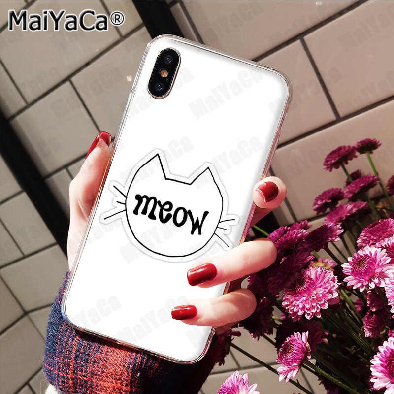 MaiYaCa You're Cat to Be Kitten Me Right Meow Гибридный чехол для телефона для Apple iPhone 8 7 6S Plus X 5 5S SE XS XR XS MAX case