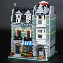 LEPIN 15008 2462 Unids Nueva Ciudad Calle Verdulería Modelo Kit de Construcción de Ladrillos de Juguete Bloques Educativos Compatible Regalo Divertido 10185